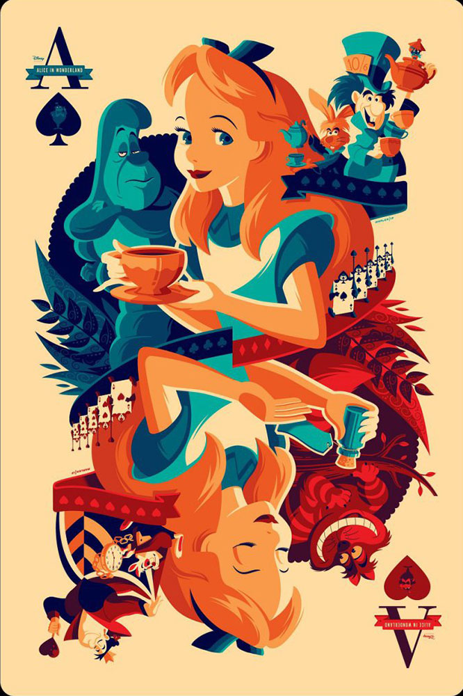 Alice In Wonderland - Variant par Walt Disney