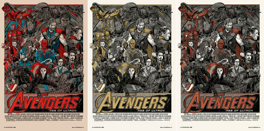 Avengers (the) - Age Of Ultron - Regular, Variant, Cast Variant (set Of 3 Prints) by Joss Whedon