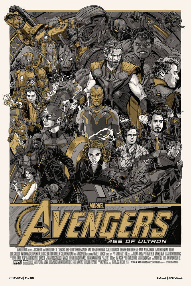 Avengers (the) - Age Of Ultron - Variant by Joss Whedon (24 x 36 in)
