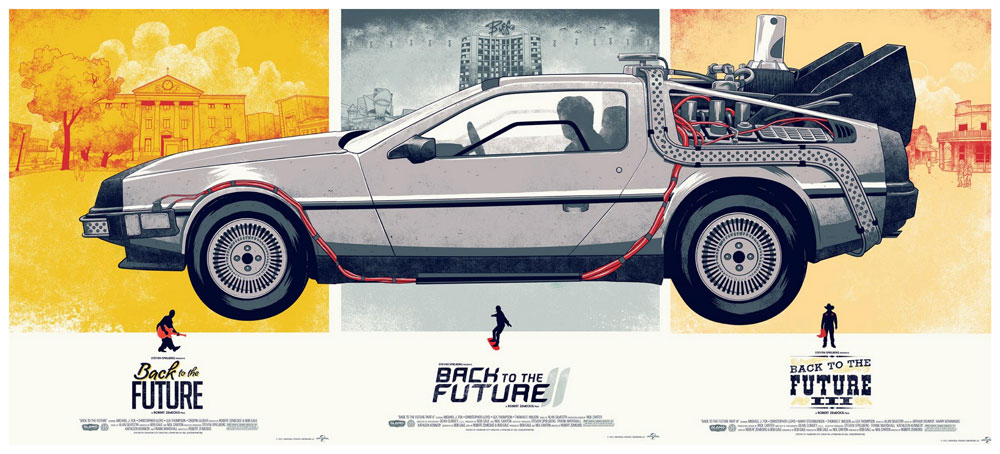 Back To The Future (set Of 3 Posters) by Robert Zemeckis