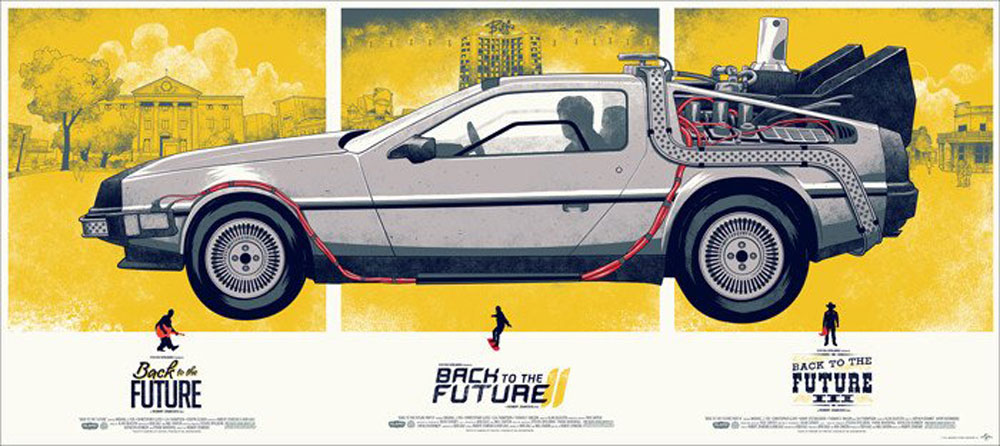 Back To The Future - Variant by Robert Zemeckis (16 x 36 in)