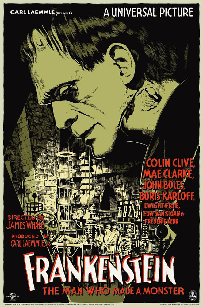 Frankenstein - Variant par James Whale