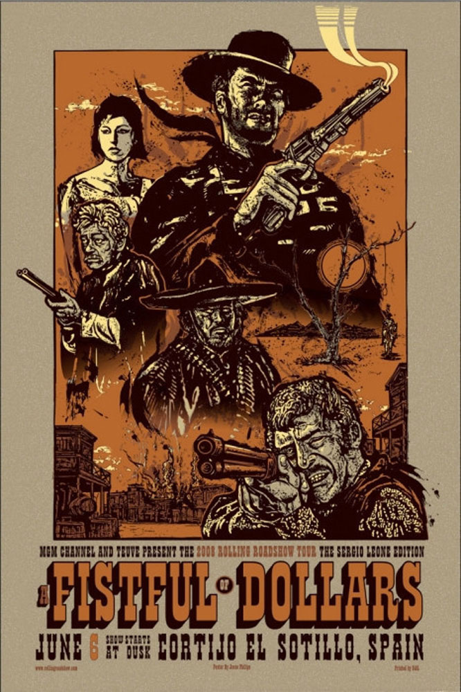 A Fistful Of Dollars - Variant by Sergio Leone (24 x 36 in)