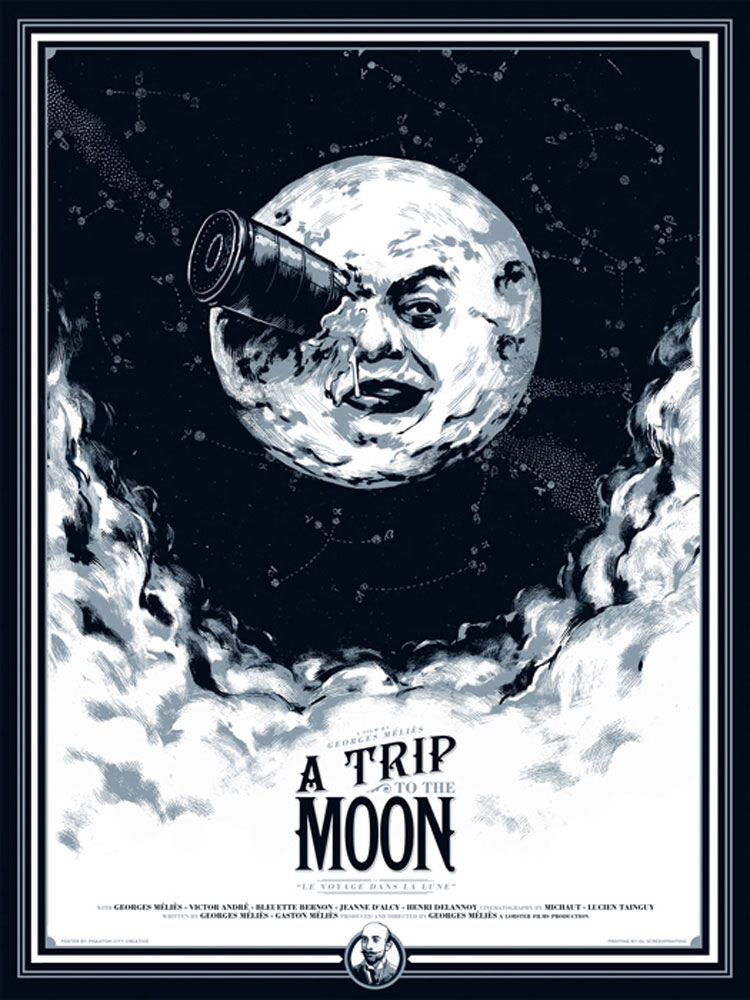 A Trip To The Moon by Georges Melies (18 x 24 in)