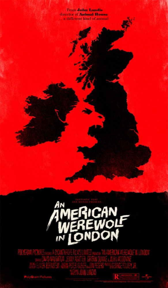 An American Werewolf In London by John Landis (14 x 24 in)