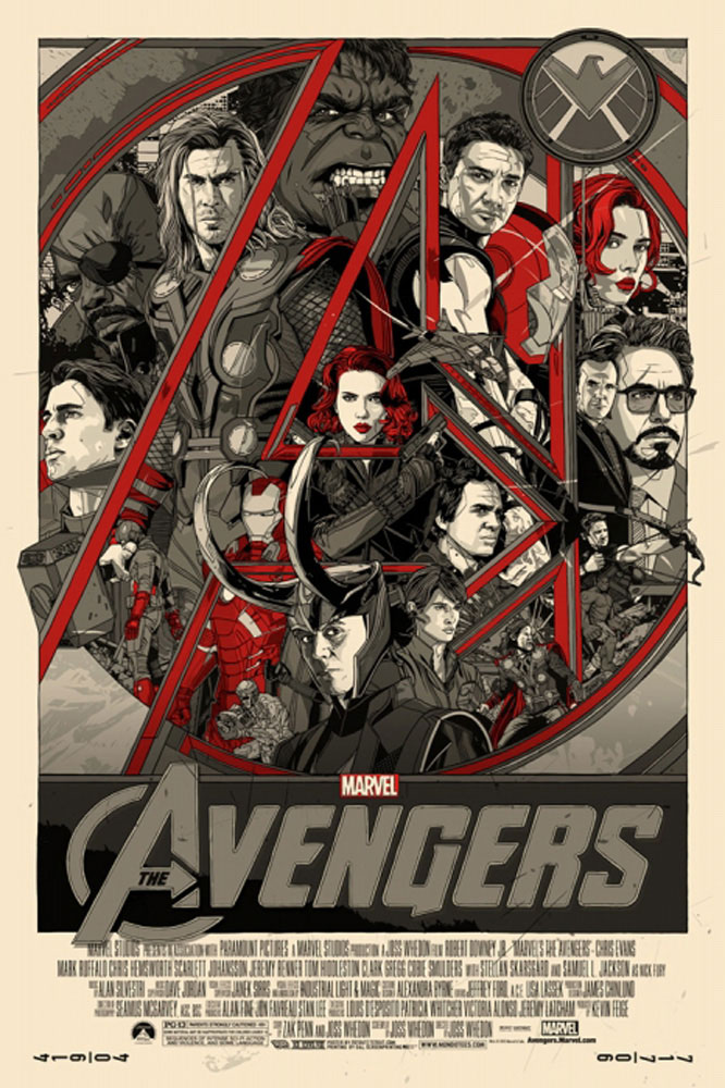 Avengers (the) - Variant by Joss Whedon (24 x 36 in)