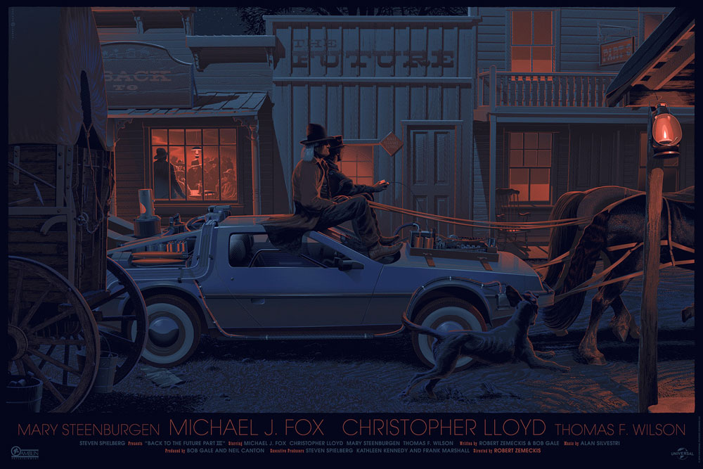 Back To The Future Iii - Regular by Robert Zemeckis (24 x 36 in)