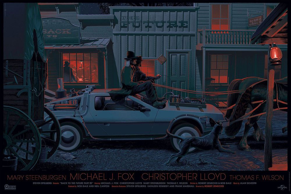 Back To The Future Iii - Variant par Robert Zemeckis (61 x 91 cm)