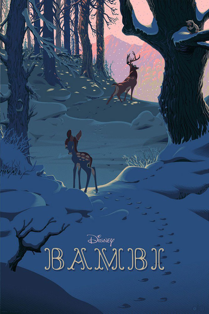 Bambi - Variant by Walt Disney (24 x 36 in)