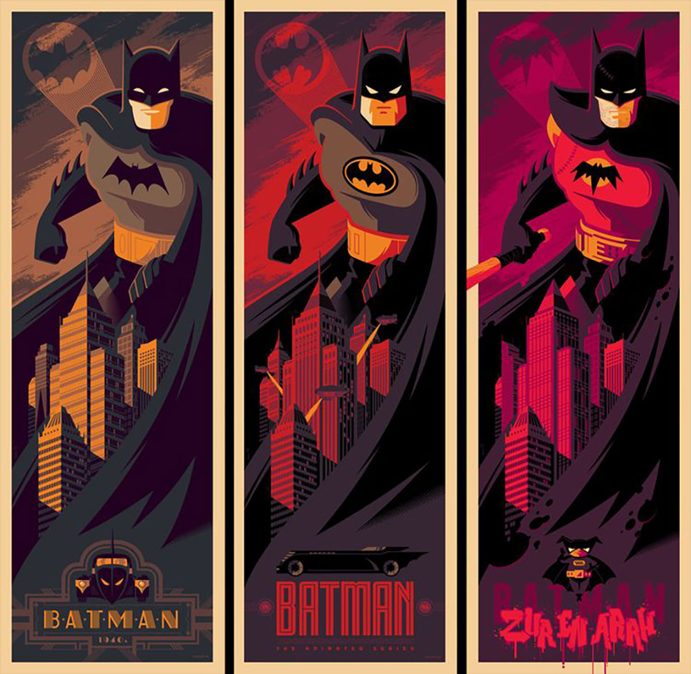 Batman (set Of 3 Prints) by -