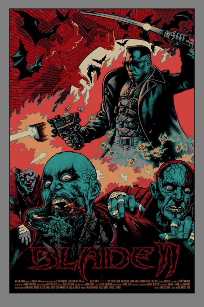 Blade Ii - Variant by Guillermo Del Toro (24 x 36 in)