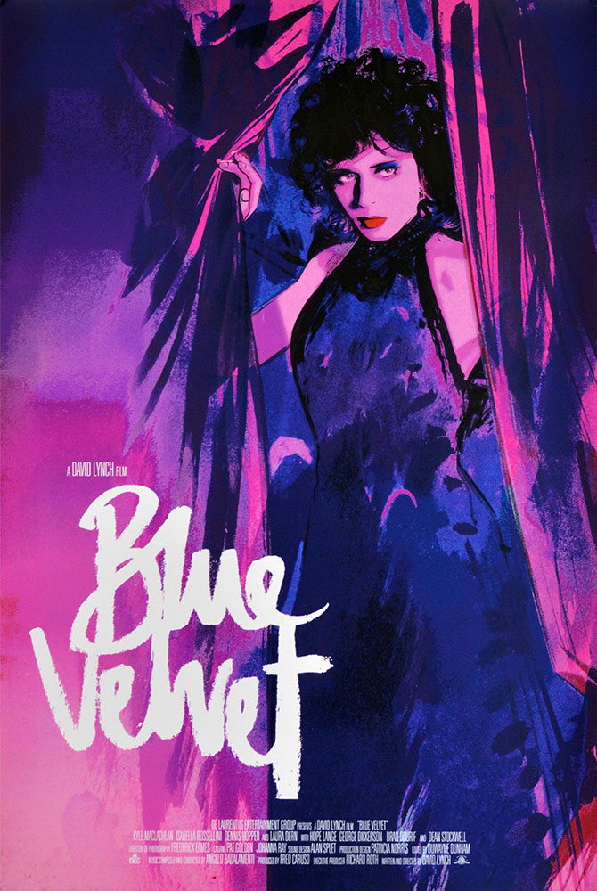 Blue Velvet par David Lynch (61 x 91 cm)