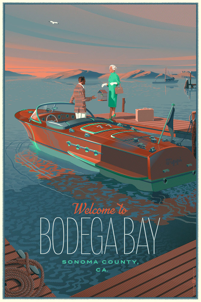 Birds (the) - Bodega Bay - Regular par - (61 x 91 cm)