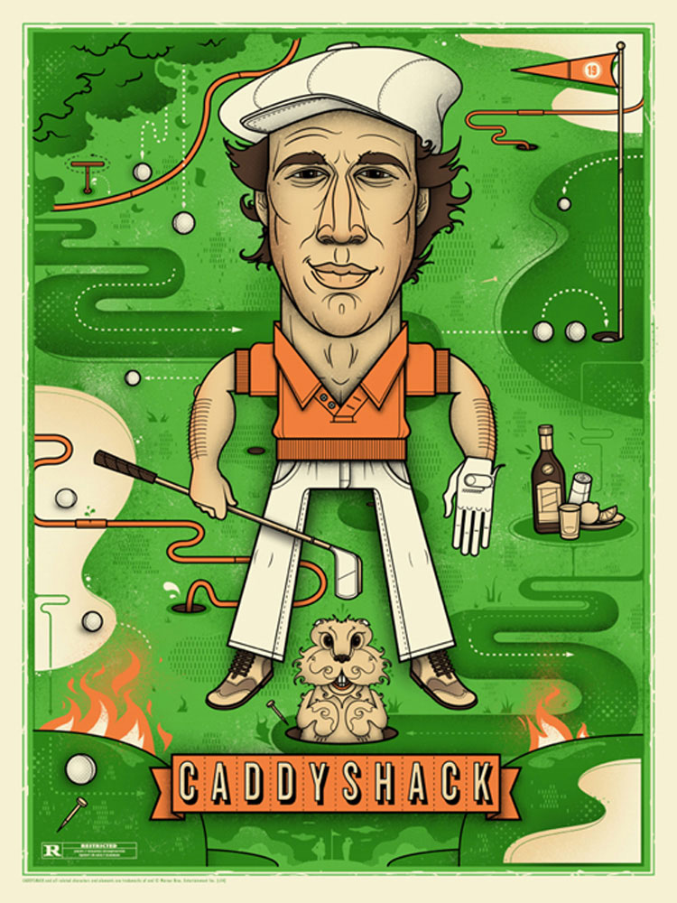 Caddyshack by Harold Ramis (18 x 24 in)