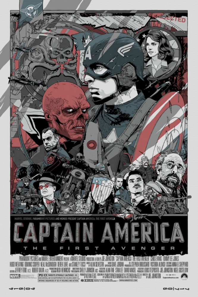 Captain America : The First Avenger - Variant par Joe Johnston (61 x 91 cm)