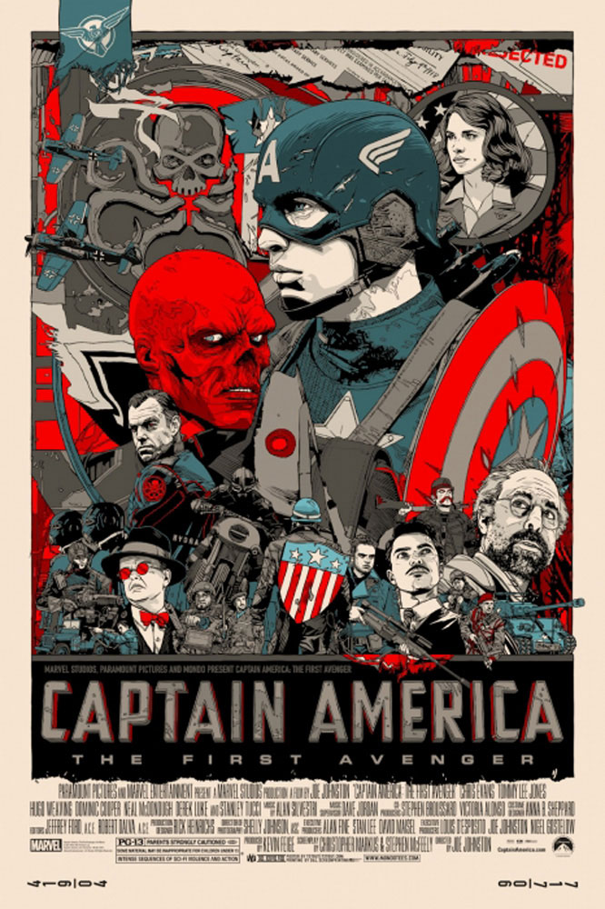Captain America : The First Avenger - Regular by Joe Johnston (24 x 36 in)