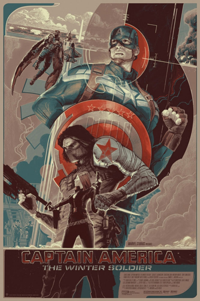 Captain America : The Winter Soldier - Variant par Anthony Russo
