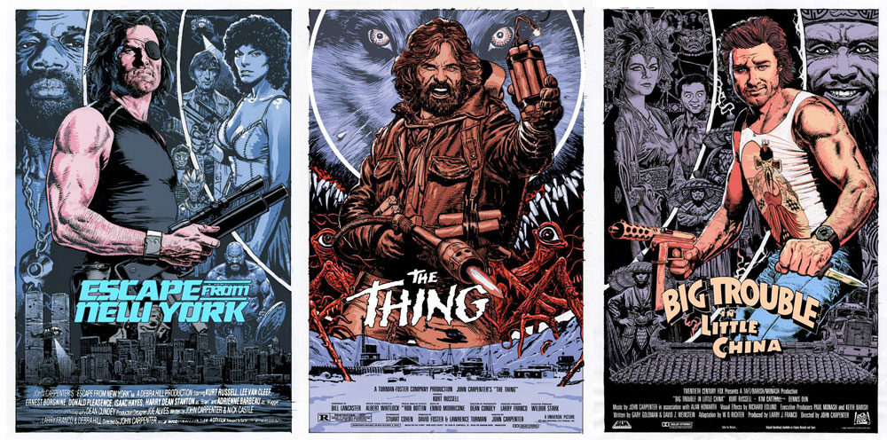 Escape From New York - The Thing - Big Trouble In Little China (set Of 3 Prints) by John Carpenter