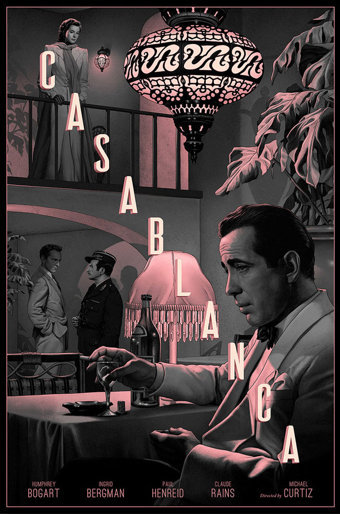 Casablanca - Variant by Michael Curtiz (24 x 36 in)