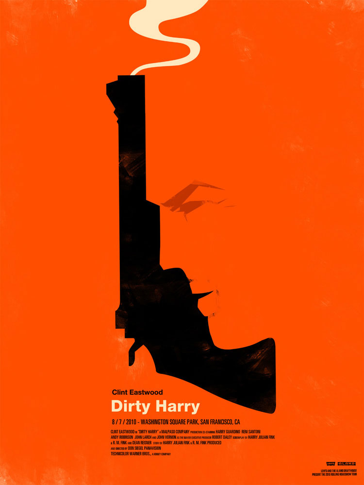 Dirty Harry par Don Siegel (45 x 61 cm)