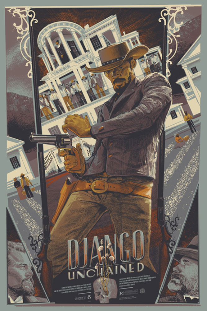 Django Unchained - Variant by Quentin Tarantino (24 x 36 in)