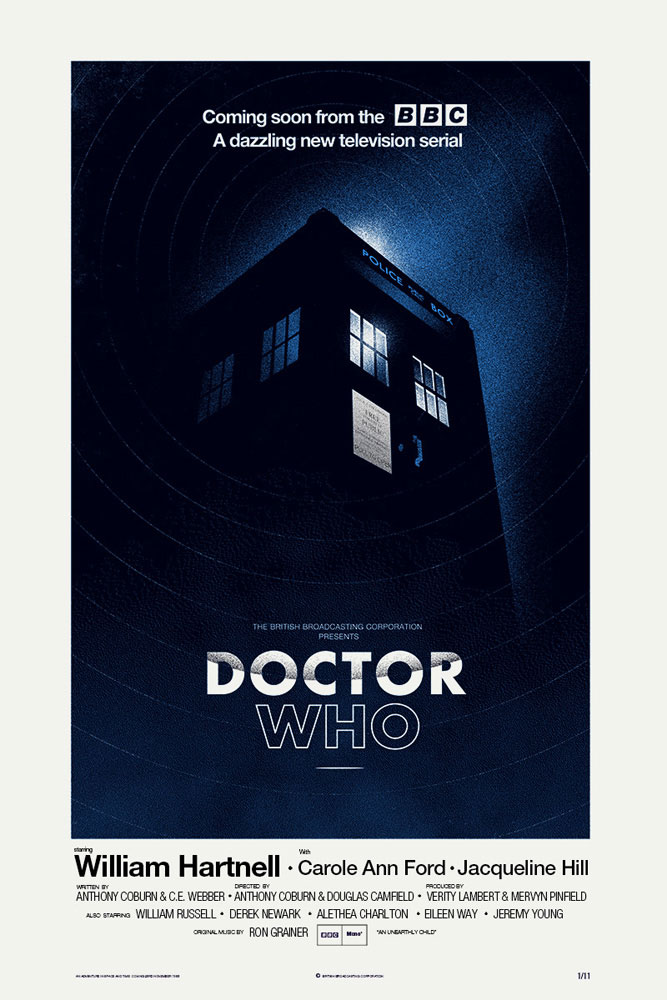 Dr Who by Anthony Coburn (24 x 36 in)