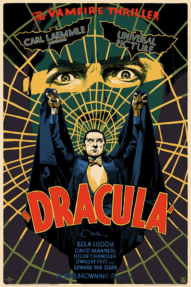 Dracula by Tod Browing (24 x 36 in)