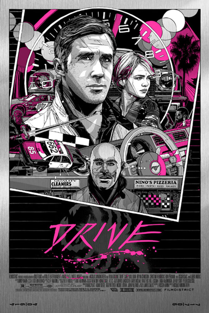 Drive - Portrait - Metal by Nicolas Winding Refn (24 x 36 in)