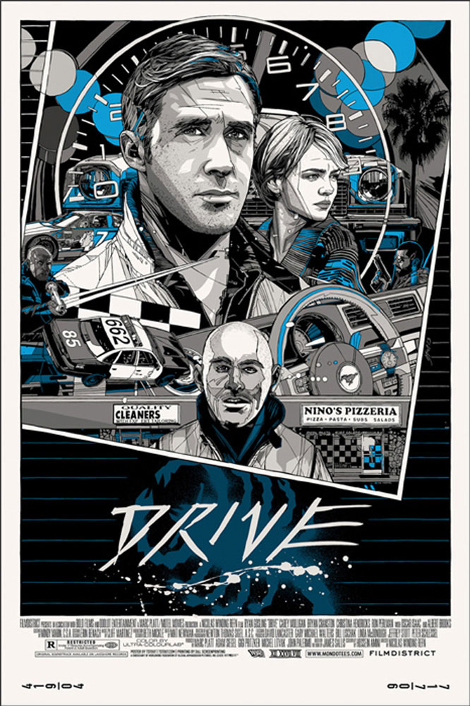 Drive - Portrait - Variant by Nicolas Winding Refn (24 x 36 in)