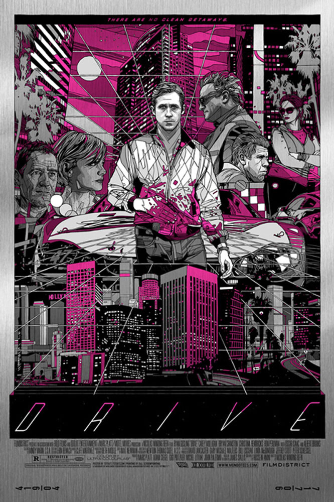 Drive - Cityscape - Metal by Nicolas Winding Refn (24 x 36 in)