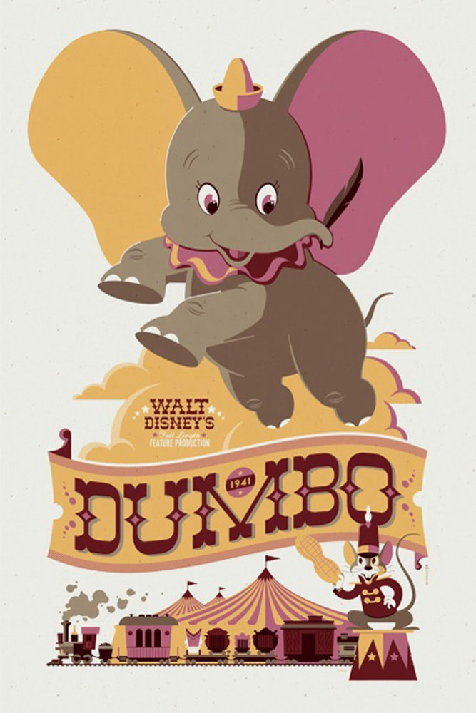 Dumbo by Walt Disney (24 x 36 in)
