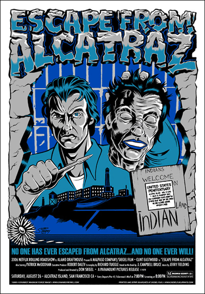 Escape From Alcatraz par Don Siegel (56 x 81 cm)