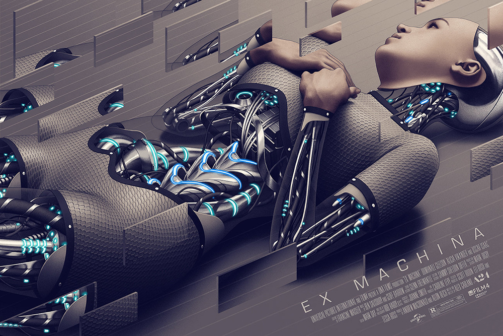 Ex Machina - Variant by Alex Garland (24 x 36 in)