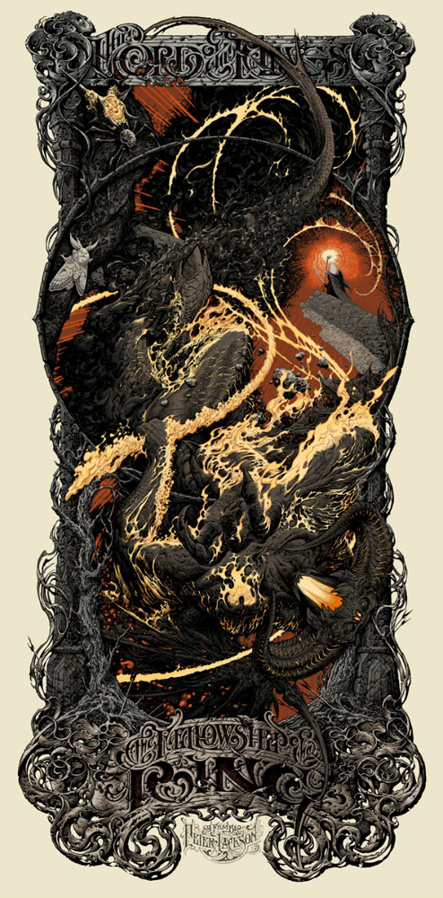 Lord Of The Rings - The Fellowhip Of The Ring - Regular par Peter Jackson (48 x 99 cm)