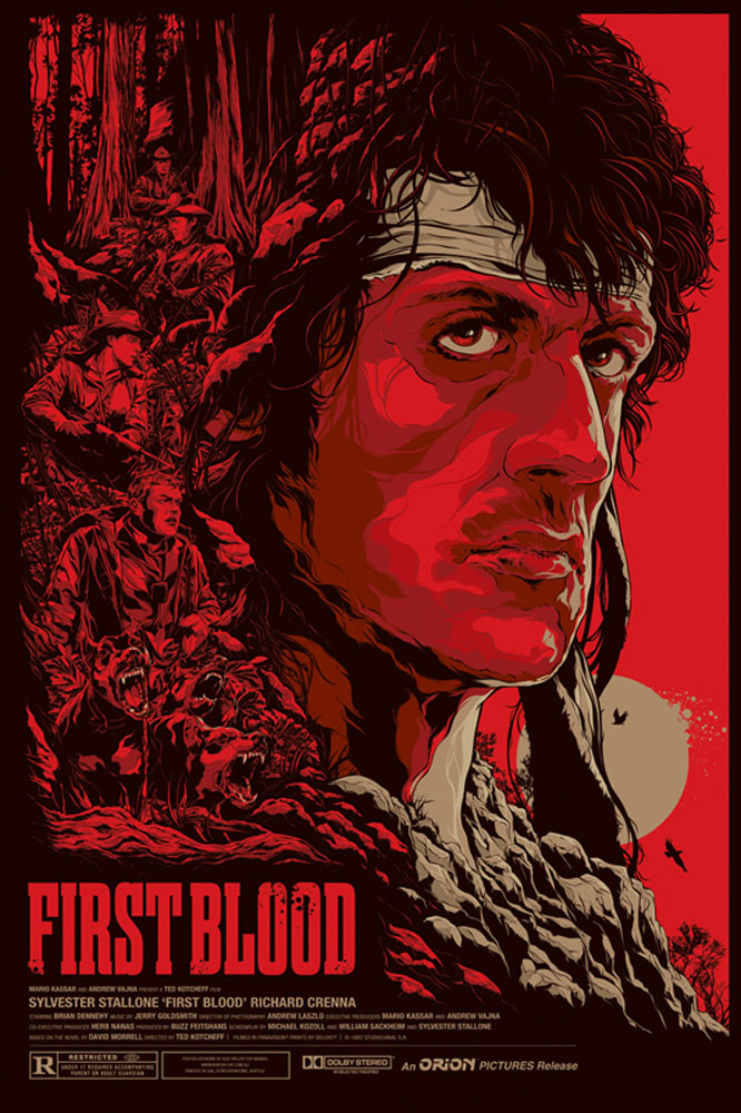 First Blood - Regular by Ted Kotcheff (24 x 36 in)