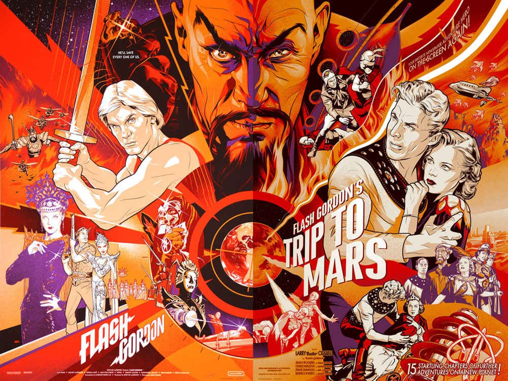 Flash Gordon (set Of 2 Prints) par Mike Hodges