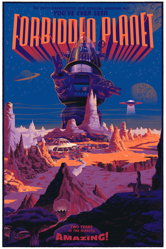 Forbidden Planet - Variant by Fred Wilcox (24 x 36 in)