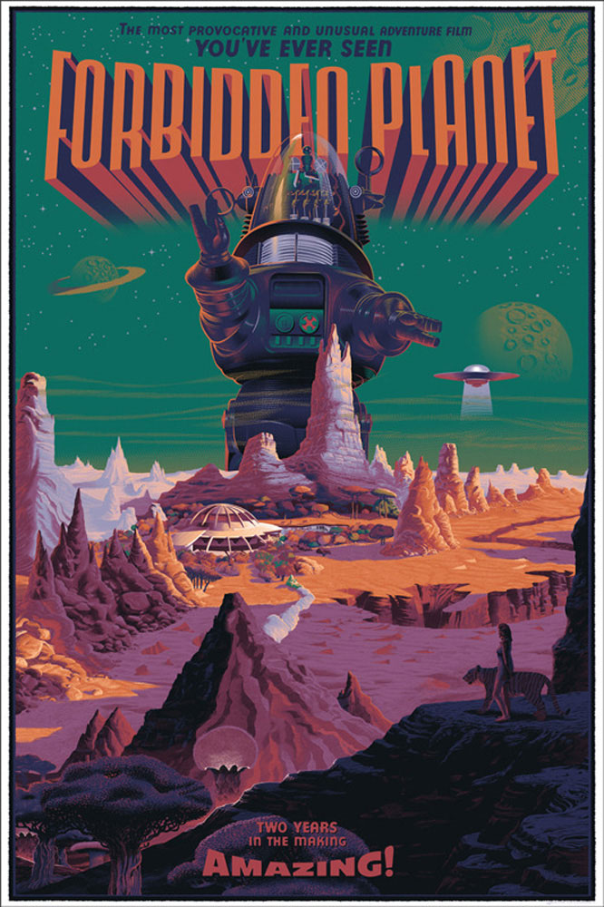 Forbidden Planet - Regular by Fred Wilcox (24 x 36 in)