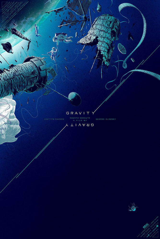 Gravity by Alfonso Cuaron (24 x 36 in)