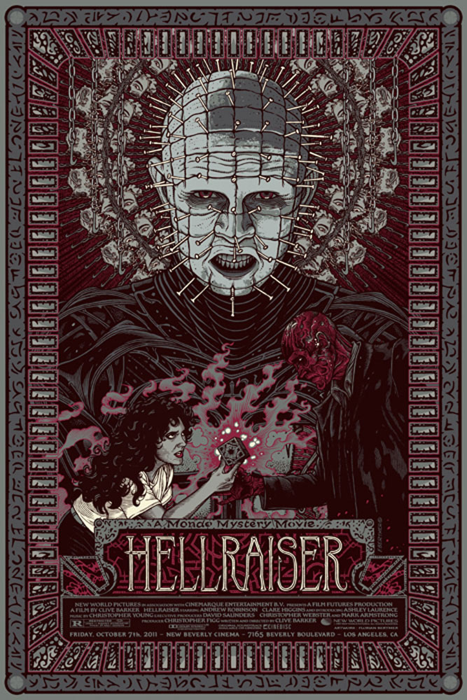 Hellraiser - Variant by Clive Barker (24 x 36 in)
