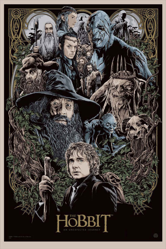 Hobbit (the) -an Unexpected Journey par Peter Jackson (61 x 91 cm)