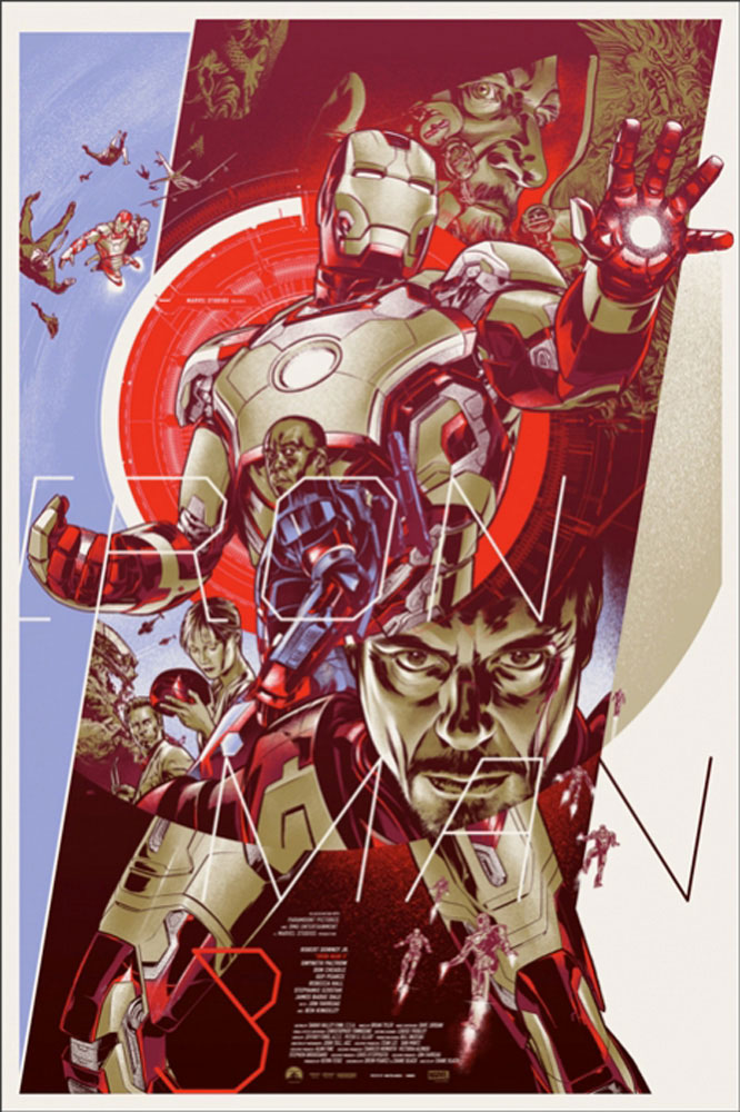 Iron Man 3 - Variant by Shane Black (24 x 36 in)
