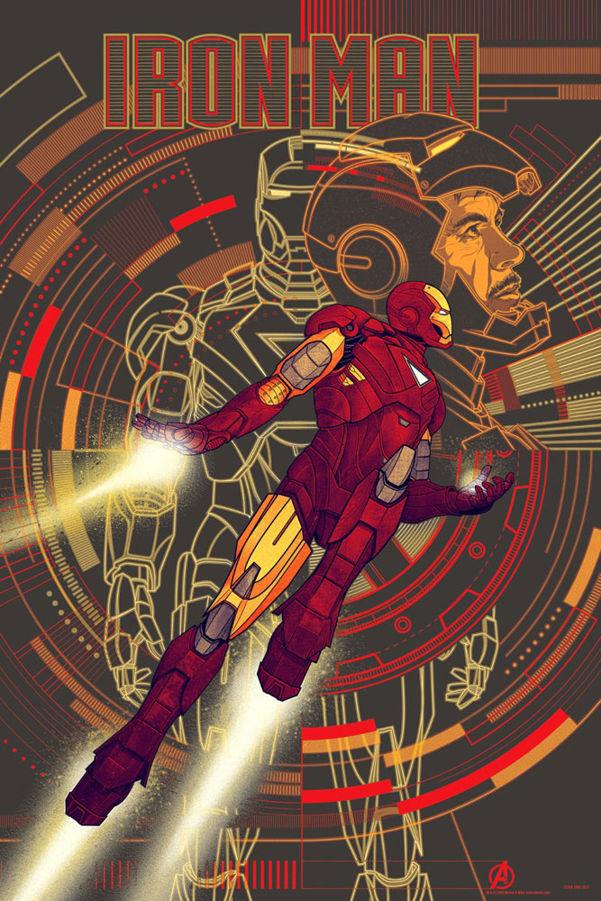 Iron Man - Variant by Jon Favreau (24 x 36 in)
