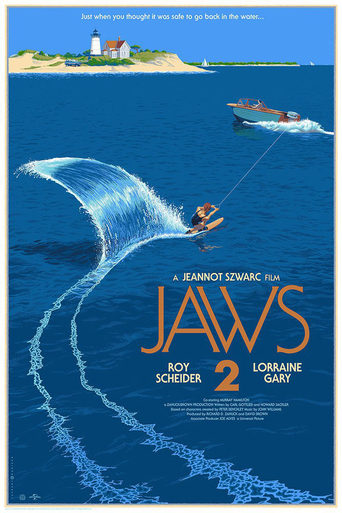 Jaws 2 by Jeannot Szwarc (24 x 36 in)