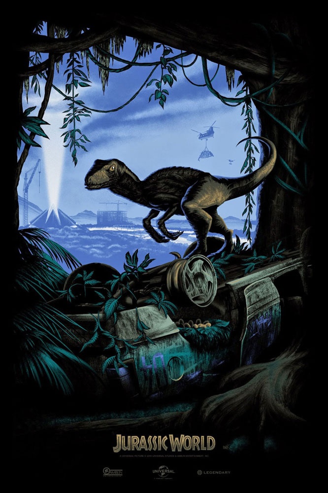 Jurassic World - Variant by Colin Trevorrow (24 x 36 in)