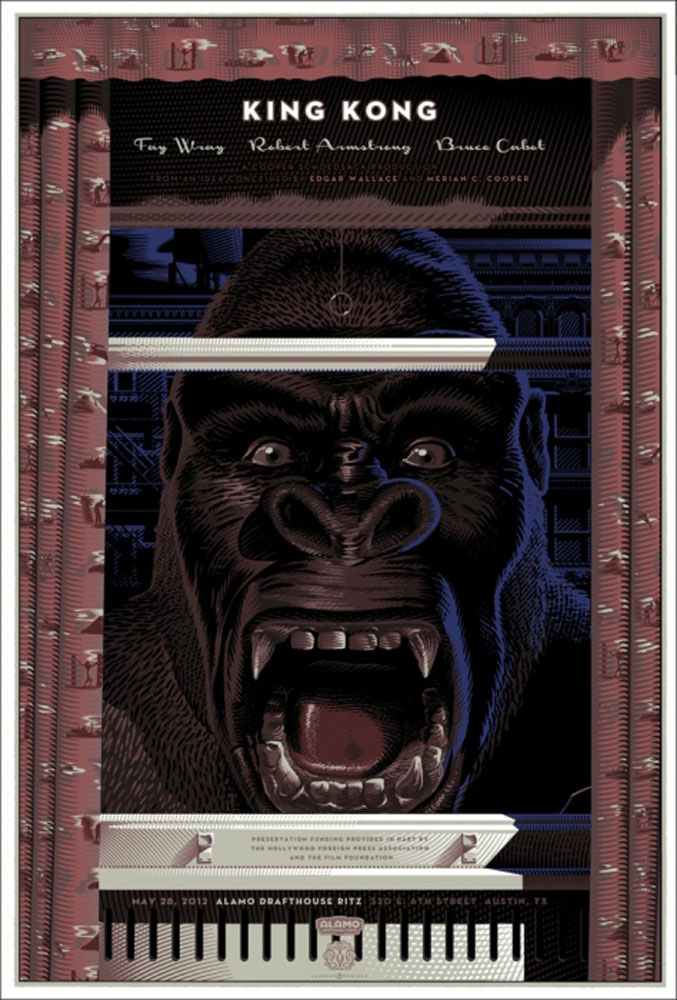 King Kong - Variant by Merian C Cooper (24 x 36 in)
