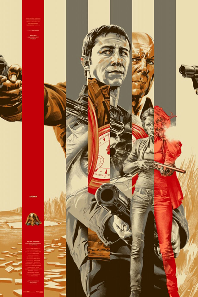 Looper - Gold by Rian Johnson (24 x 36 in)