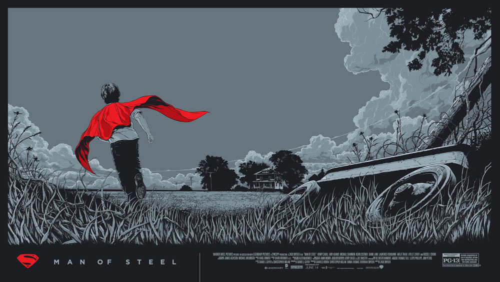 Man Of Steel - Variant by Zack Snyder (20 x 36 in)