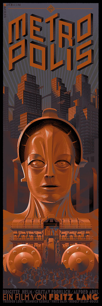 Metropolis - Alternate by Fritz Lang (12 x 36 in)