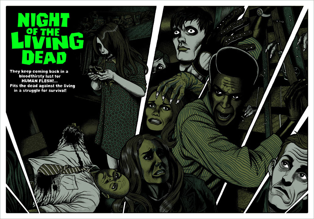 Night Of The Living Dead by George A Romero (24 x 36 in)